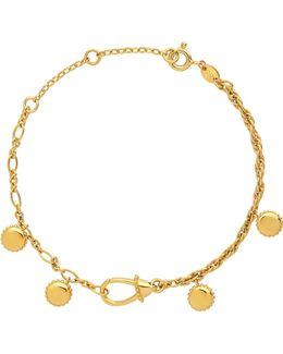 Amulet Gold Carabiner Bracelet