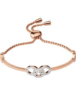 Signature 18ct Rose Gold And Sapphire Bracelet