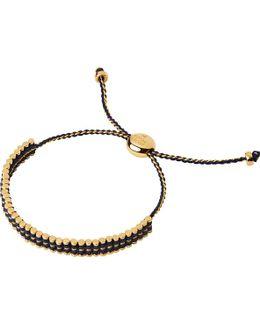 Ascot 18ct Yellow-gold Vermeil & Blue Cord Friendship Bracelet