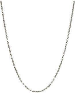 Sterling Silver 1.2mm 45cm Cable Chain Necklace