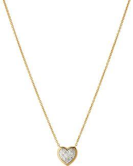 Diamond Essentials 18ct Rose-gold Pave Necklace