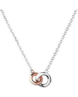 20/20 Sterling Silver And 18ct Rose Gold-plated Mini Necklace