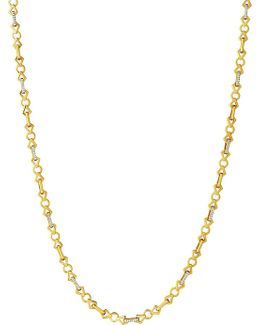 Timeless Gold 18ct Yellow-gold And Diamond Necklace