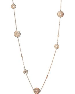 Timeless 18ct Rose-gold Vermeil Station Necklace