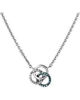 Treasured Sterling Silver And Diamond Necklace