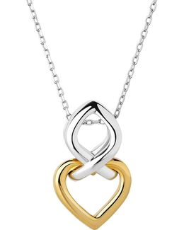 Infinite Love 18ct Gold Vermeil And Sterling Silver Pendant Necklace