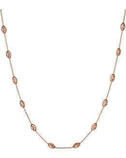 Essentials Rose-gold Vermeil Beaded Necklace 45cm