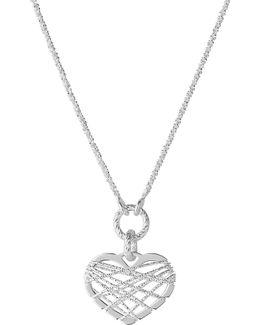 Dream Catcher Heart Pendant Necklace