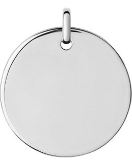 Narrative Sterling Silver Large Round Disc Pendant