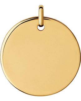 Narrative 18ct Yellow-gold Large Round Pendant