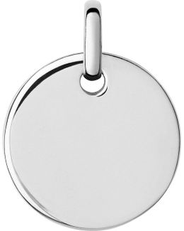 Narrative Sterling Silver Small Oval Pendant