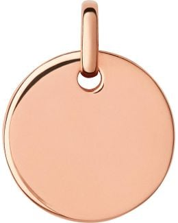 Narrative Rose-gold Vermeil Large Round Disc Pendant
