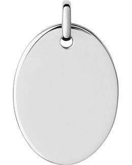 Narrative Sterling Silver Large Oval Disc Pendant