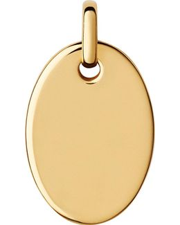Narrative Yellow-gold Vermeil Small Oval Disc Pendant
