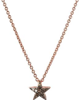 Diamond Essentials 18ct Rose Gold-vermeil And Diamond Necklace