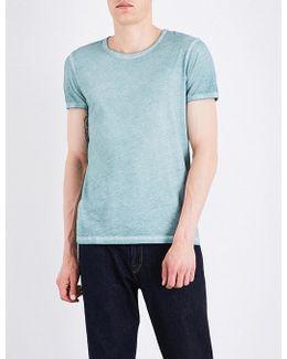 Faded-seam Cotton T-shirt
