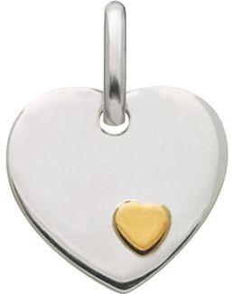 Heart Disc Charm
