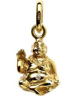 Laughing Buddha 18ct Yellow-gold And Diamond Charm