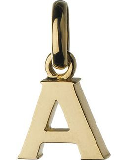 Alphabet A 18ct Yellow-gold Charm