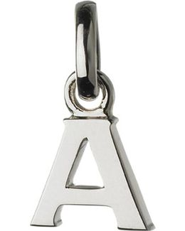 Alphabet A Sterling Silver Charm