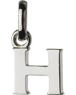 Alphabet H Sterling Silver Charm