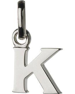 Alphabet K Sterling Silver Charm