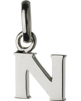 Alphabet N Sterling Silver Charm