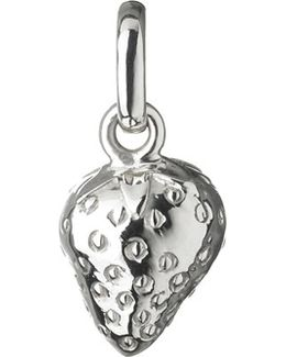 Wimbledon Strawberry Sterling Silver Charm