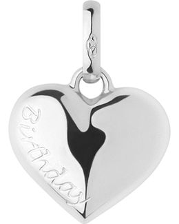 Birthday Heart Sterling Silver Charm