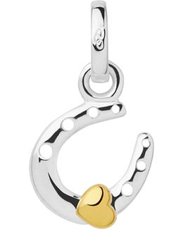 Horseshoe And Heart Sterling-silver Mini Charm