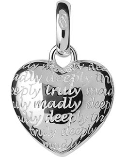 Truly Madly Deeply Sterling-silver Charm