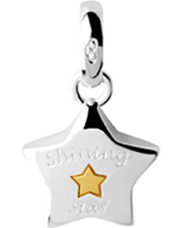 Shining Star Sterling-silver Charm
