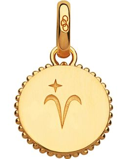 Aries 18ct Yellow-gold Vermeil Zodiac Charm