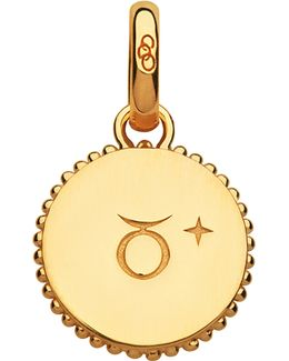 Taurus 18ct Yellow-gold Vermeil Zodiac Charm