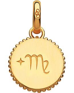 Virgo 18ct Yellow-gold Vermeil Zodiac Charm