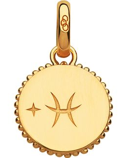 Pisces 18ct Yellow-gold Vermeil Zodiac Charm
