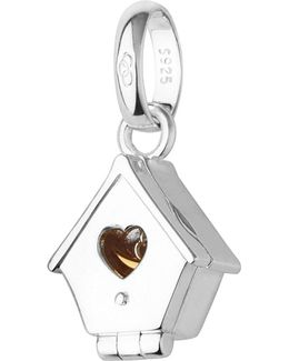Sterling Silver And 18ct Yellow Gold Hinged Birdhouse Charm