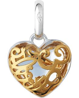 Sterling Silver And 18ct Yellow Gold Flirty 30 Heart Charm