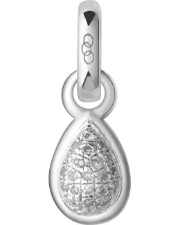 April Sterling Silver And Diamond Mini Birthstone Charm