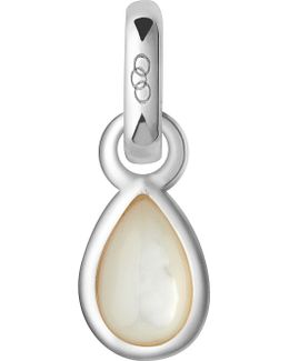 June Sterling Silver And Mother-of-pearl Mini Birthstone Charm