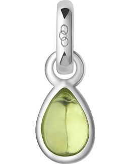 August Sterling Silver And Peridot Mini Birthstone Charm