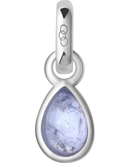 December Sterling Silver And Tanzanite Mini Birthstone Charm