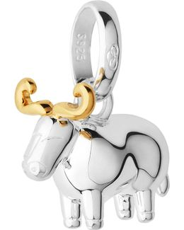 Sterling Silver And 18-carat Yellow Gold Vermeil Chinese Zodiac Ox Charm