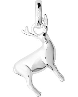 Woodland Stag Sterling Silver Charm