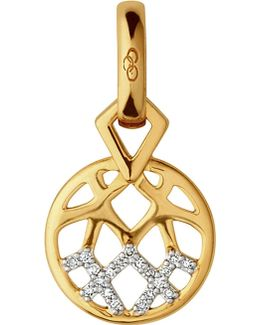 Timeless Gold 18ct Yellow-gold And Diamond Charm