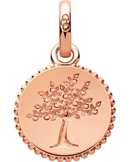 Amulet 18ct Rose Gold Vermeil Tree Of Life Charm