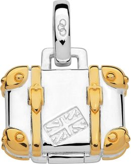 Silver And 18ct Gold Vermeil Suitcase Charm