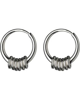 Sweetie Sterling Silver Hoop Earrings