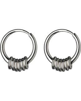 Sweetie Sterling Silver Hoop Earrings