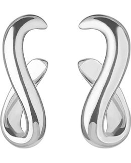 Essentials Infinity Sterling Silver Earrings
